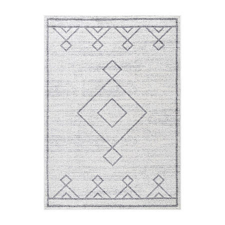 nuLoom Tribal Diamond Medallion Rectangular Rug, One Size , Gray