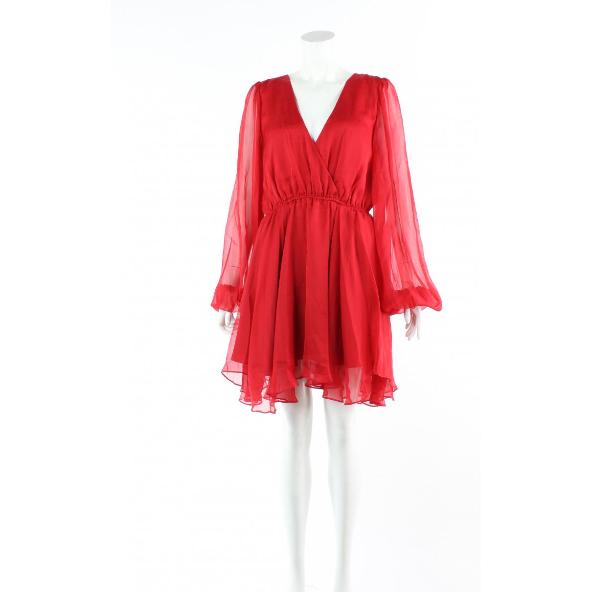 Caroline Constas \N Kleid in  Rot Seide