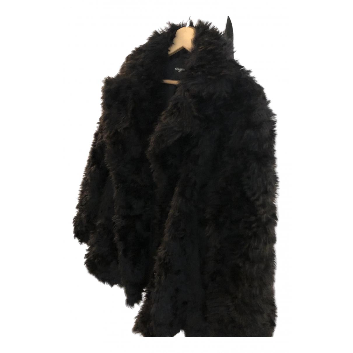 The Kooples - Manteau Fall Winter 2019 pour femme en fourrure synthetique - noir