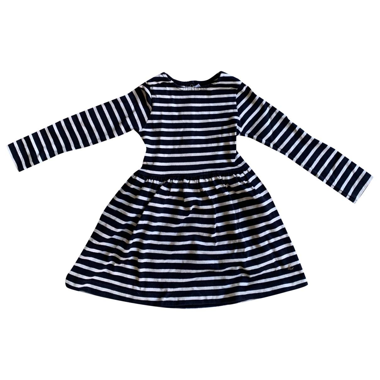 Petit Bateau - Robe    pour enfant en coton - marine