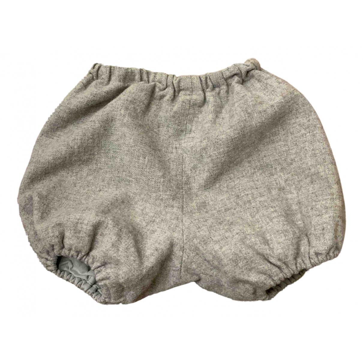 Bonpoint - Pantalon   pour enfant en laine - gris