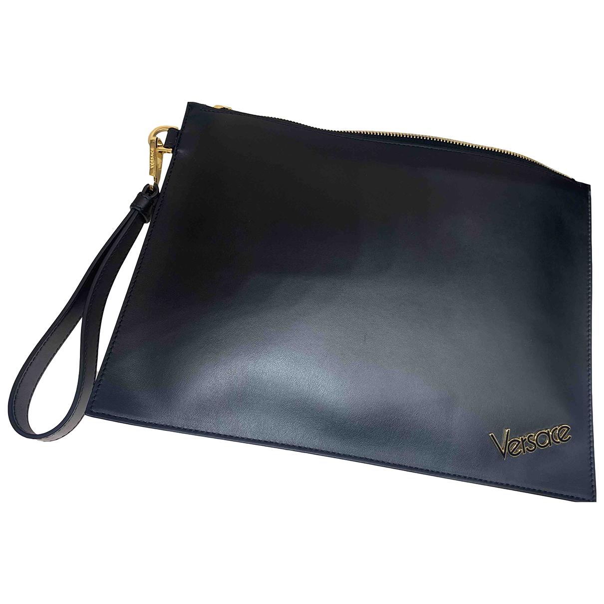 Versace \N Black Leather Clutch bag for Women \N