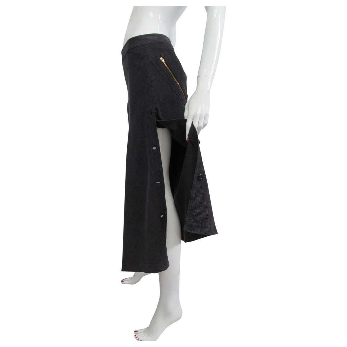 Falda maxi de Terciopelo Trussardi Jeans