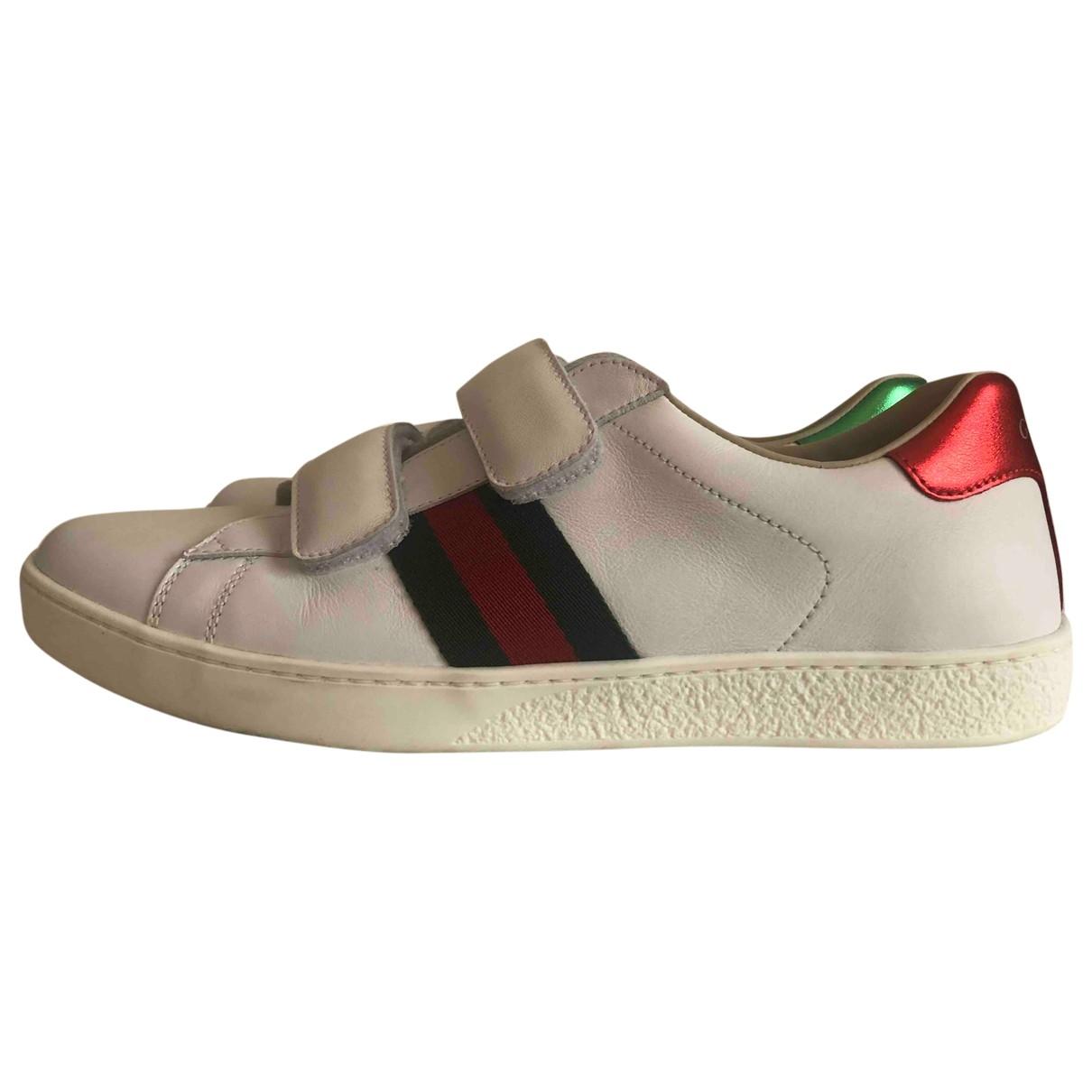 Gucci - Baskets   pour enfant en cuir - blanc