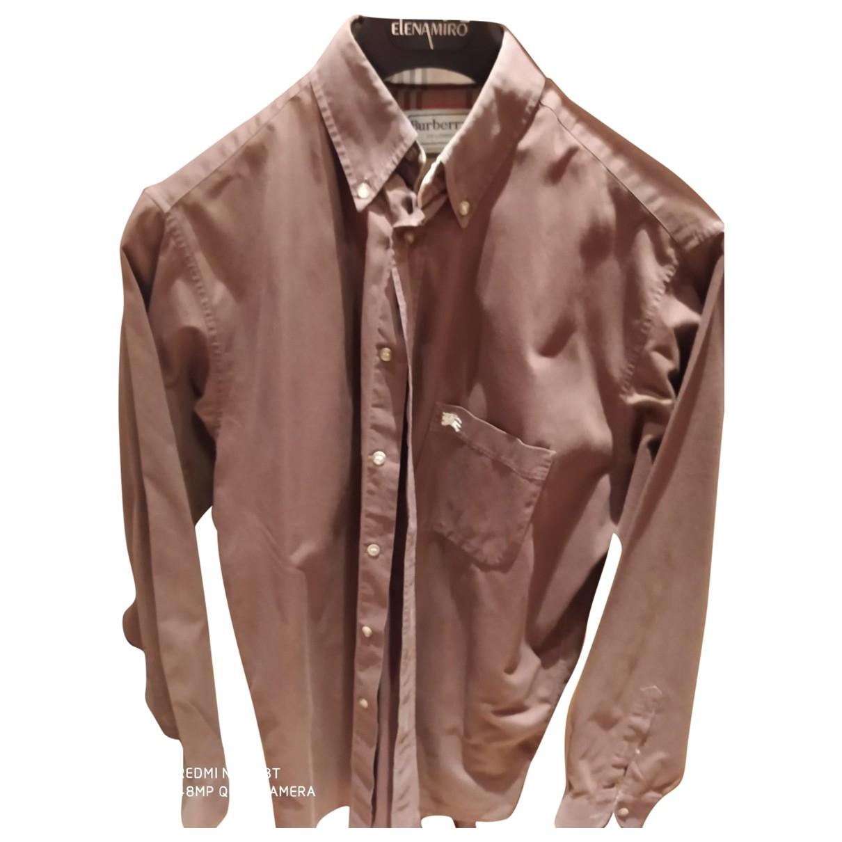 Burberry \N Brown Cotton Shirts for Men M International
