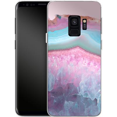 Samsung Galaxy S9 Silikon Handyhuelle - Serenity Rose Quartz Agate von Emanuela Carratoni