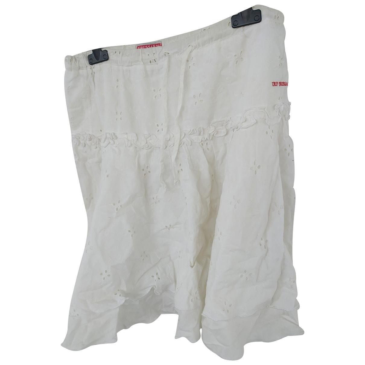Trussardi - Jupe   pour enfant en coton - blanc
