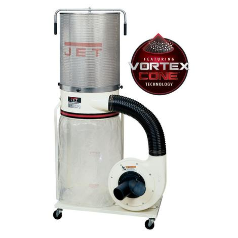 Jet Dc-1100Vx-Ck Dust Collector, 1.5 HP 1PH 115/230 V, 2-Micron Canister Kit