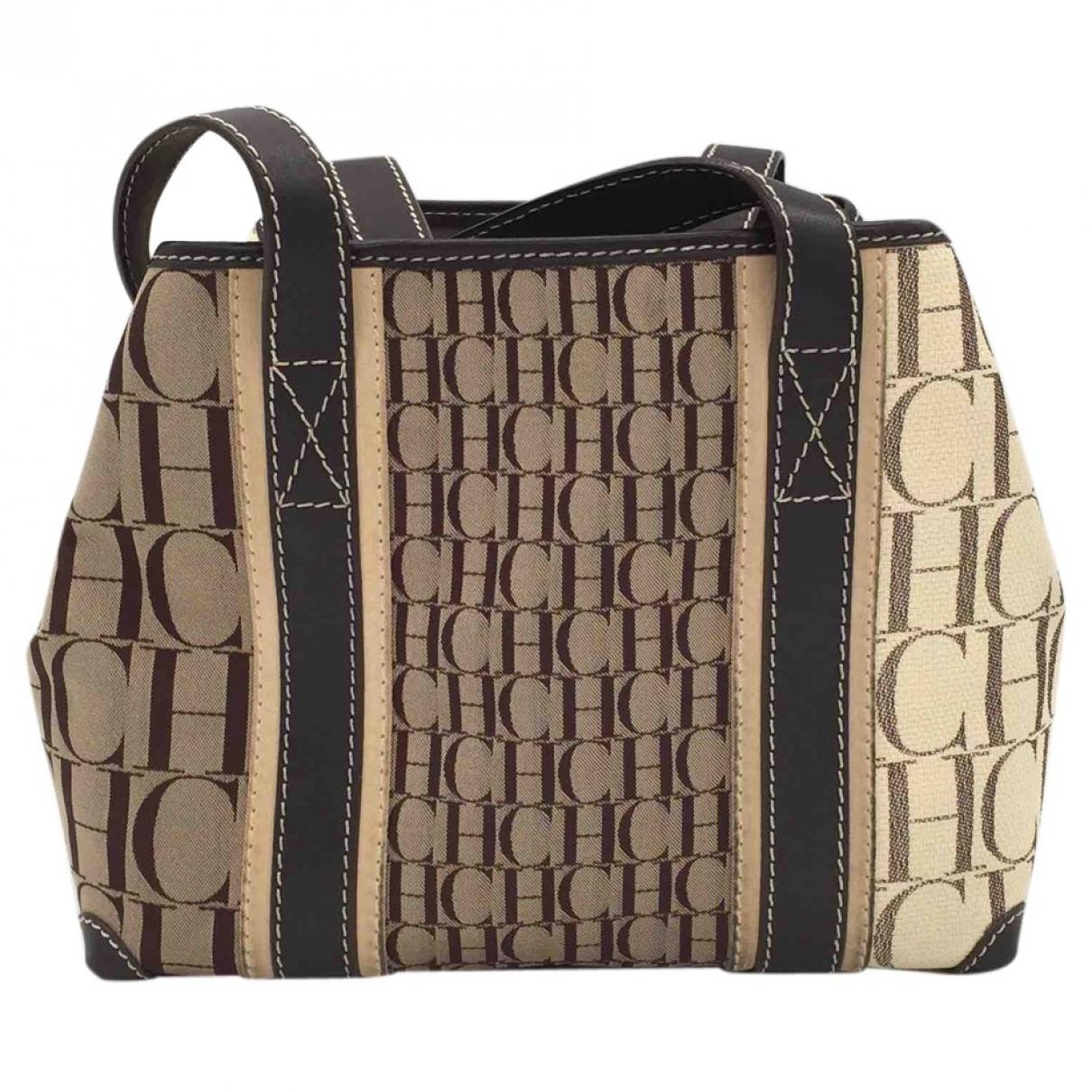 Carolina Herrera \N Camel Leather handbag for Women \N