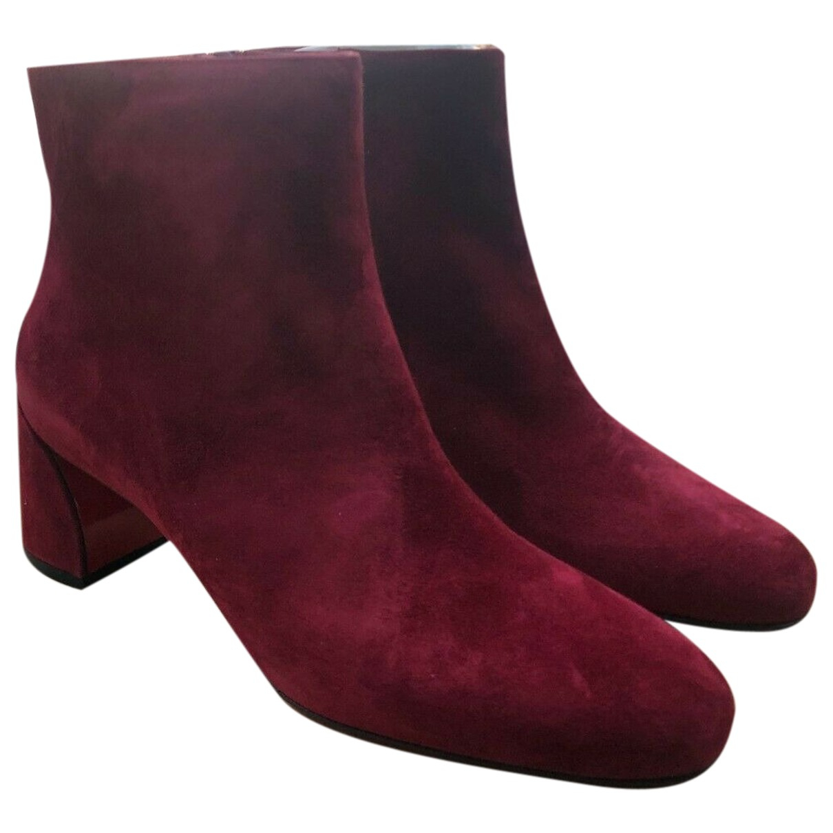 Christian Louboutin N Red Suede Ankle boots for Women 41.5 EU