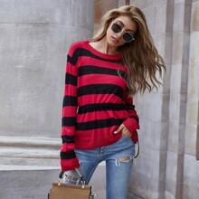 Drawstring Waist Stripe Sweater