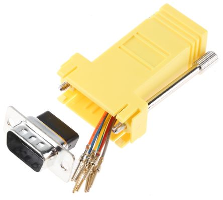 RS PRO 9 Way D-sub Male, RJ45 Female Adapter
