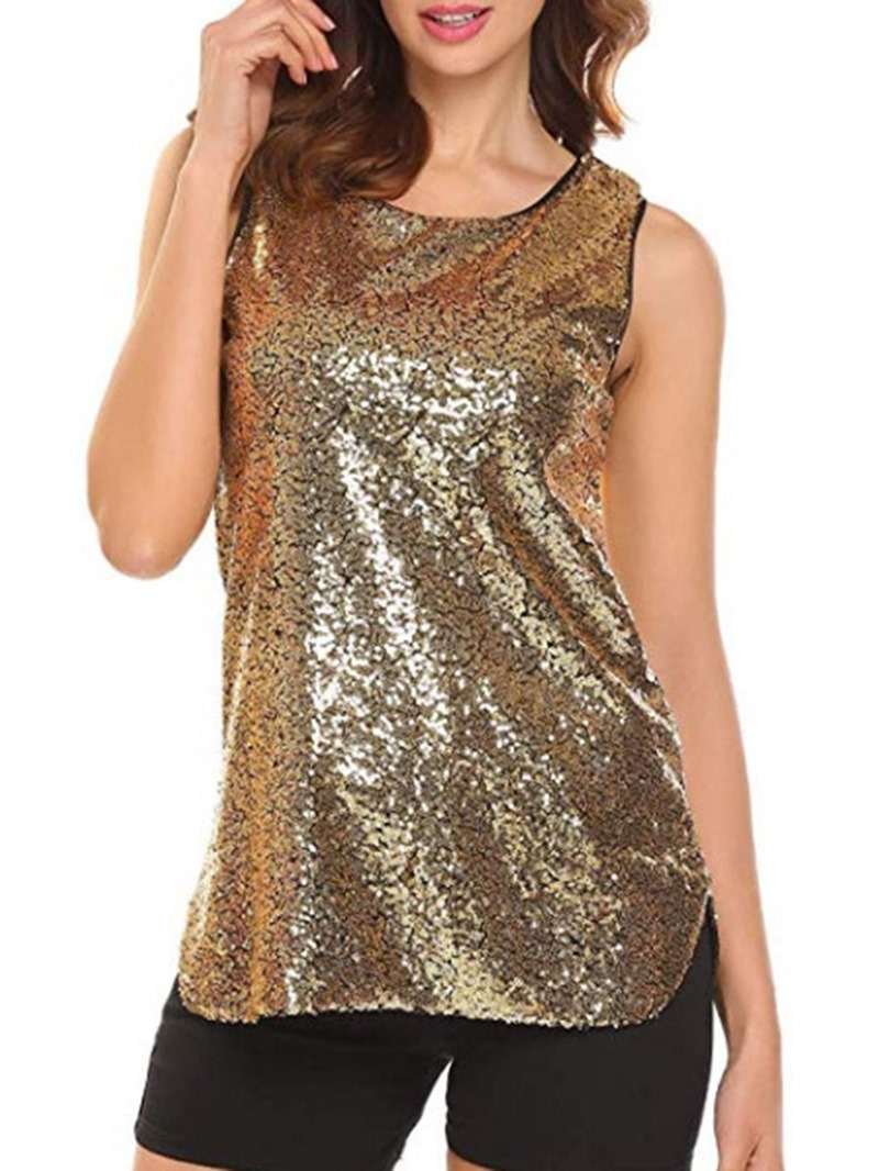 Ericdress Polyester Sequins Summer Fashion Tank Top