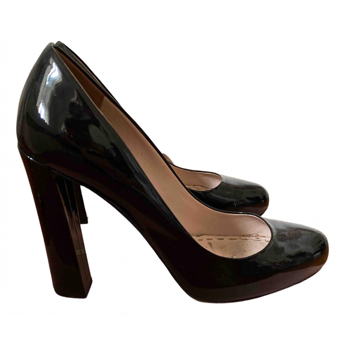 Miu Miu - Escarpins   pour femme en cuir verni - noir