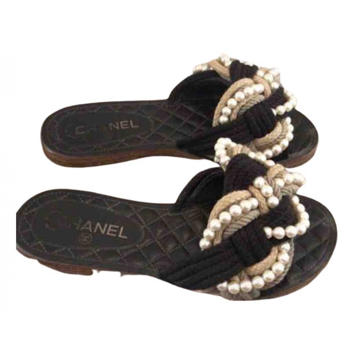 Chanel N Multicolour Cloth Sandals for Women 37 EU