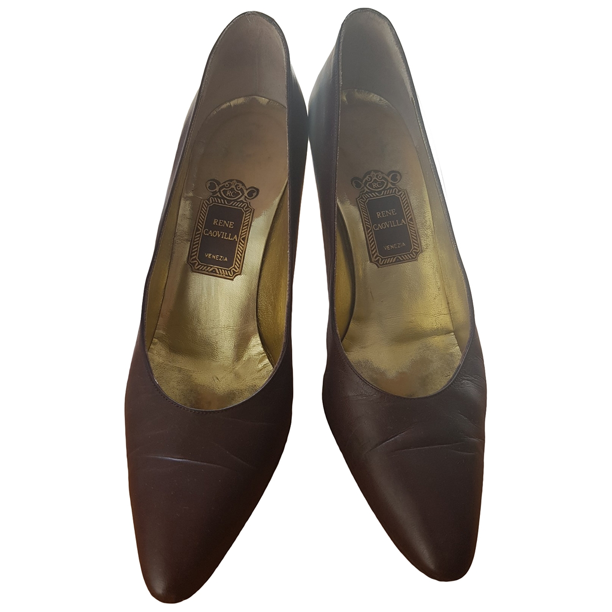 Rene Caovilla \N Brown Leather Heels for Women 8 US