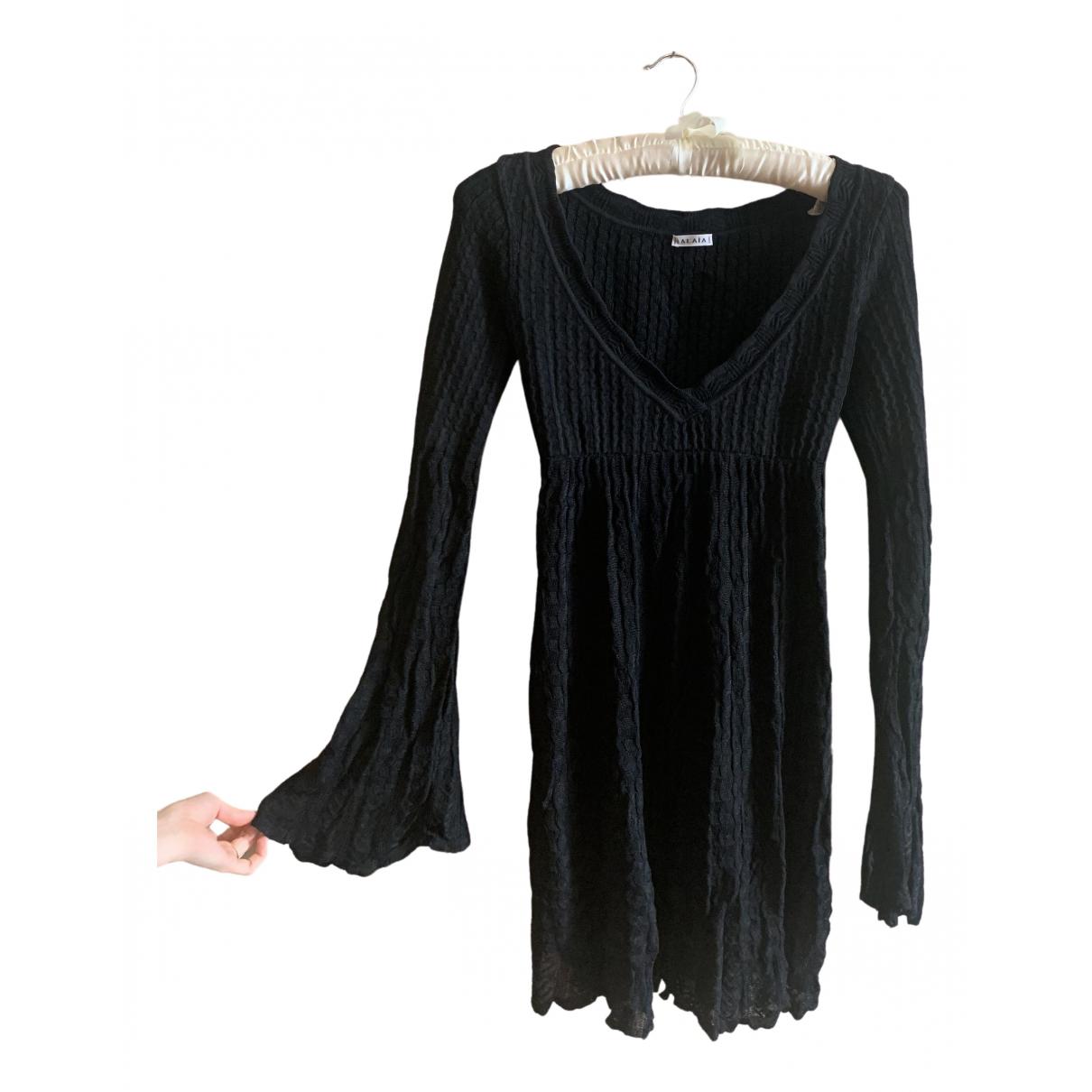 Alaia \N Kleid in  Schwarz Viskose