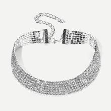 Halsband mit Breiter Strass