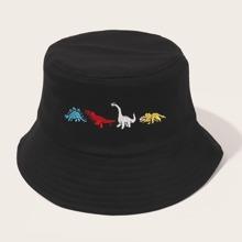 Maenner Fischerhut mit Karikatur Tier Stickereien