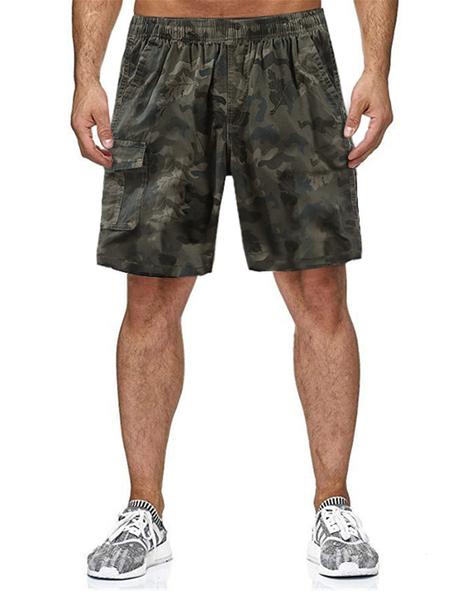 Yoins Men Summer Camouflage Pocket Casual Drawstring Loose Shorts