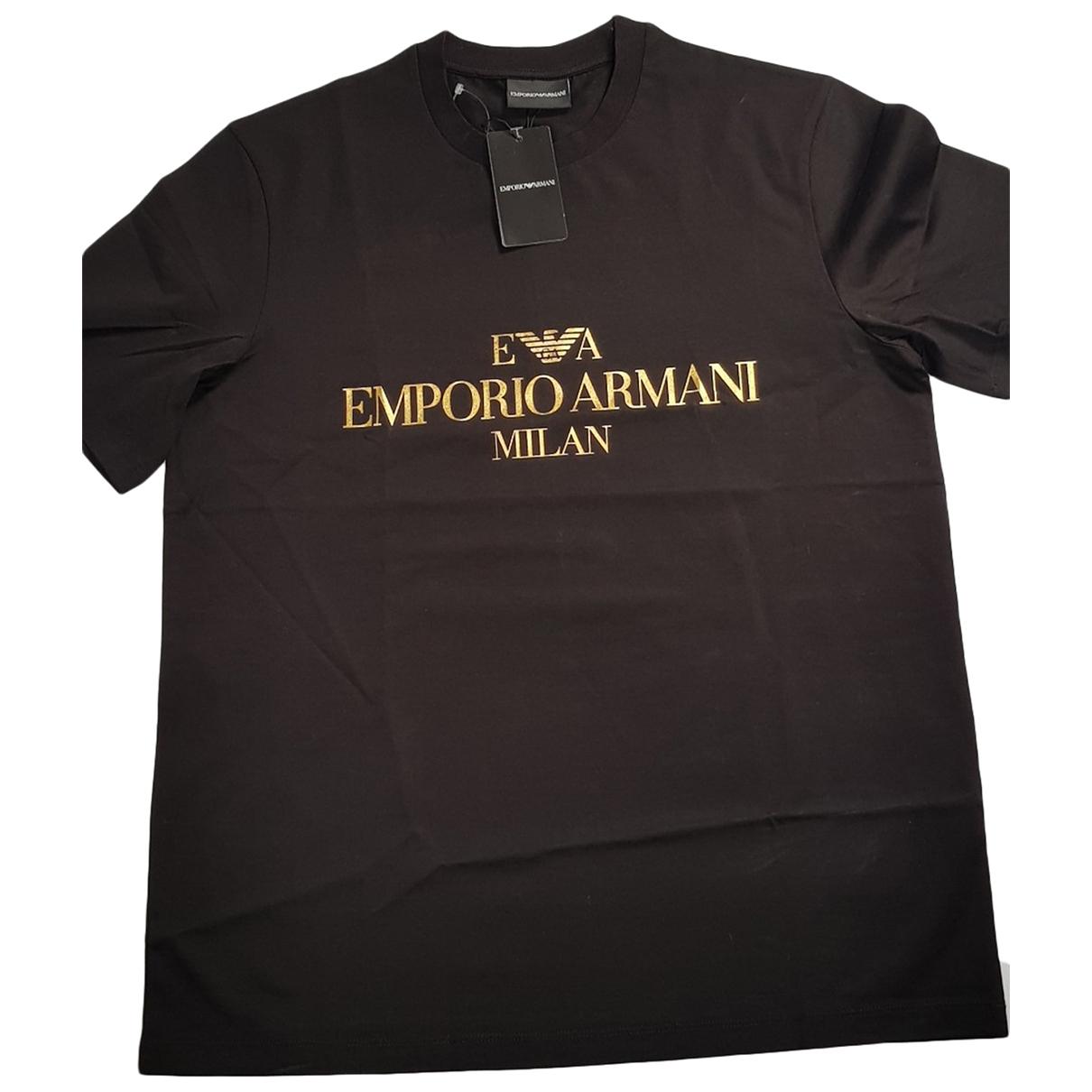 Emporio Armani \N Black Cotton T-shirts for Men L International