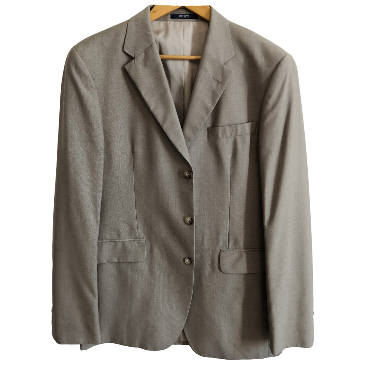 Kenzo \N Beige Wool Suits for Men 52 IT