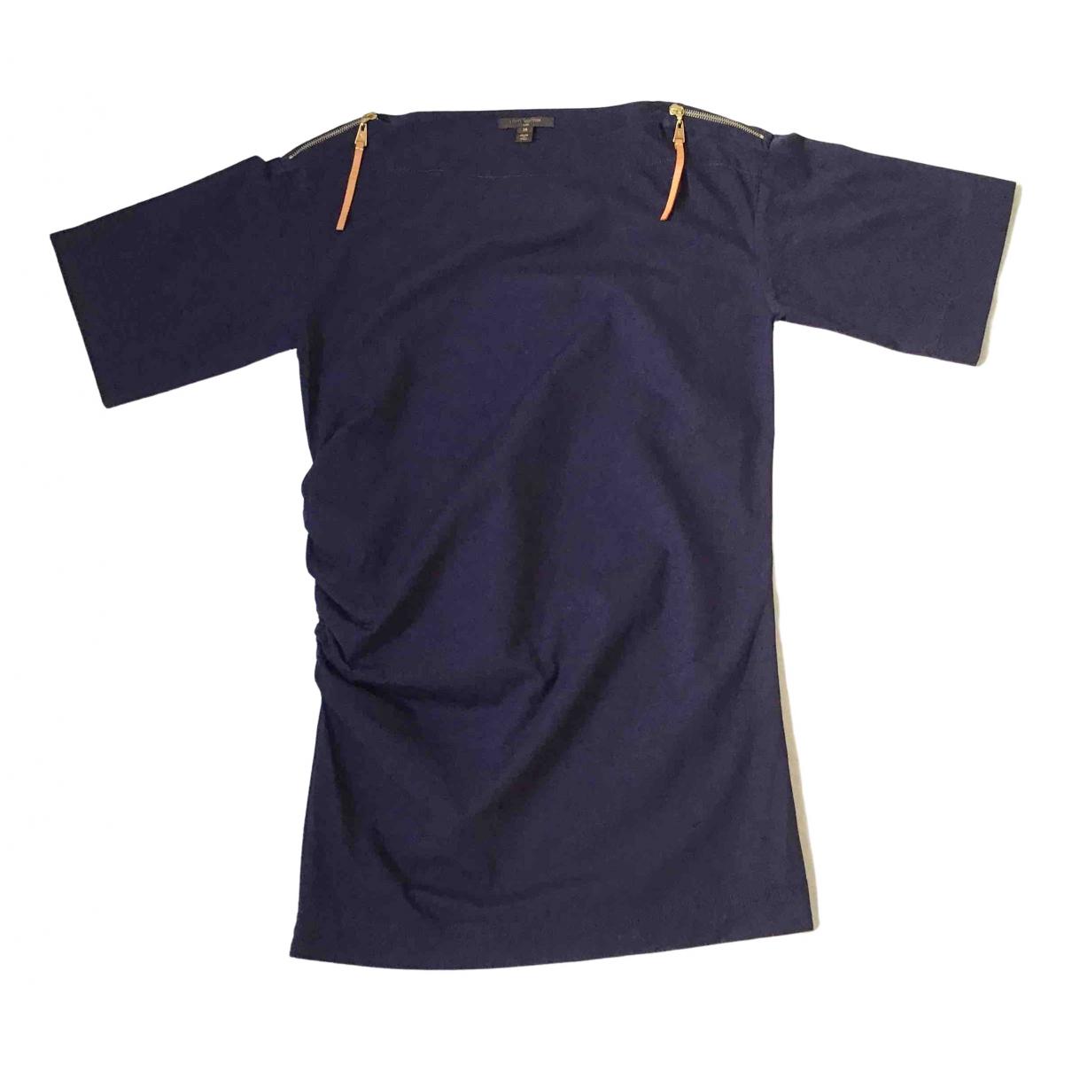 Louis Vuitton \N Kleid in  Marine Baumwolle