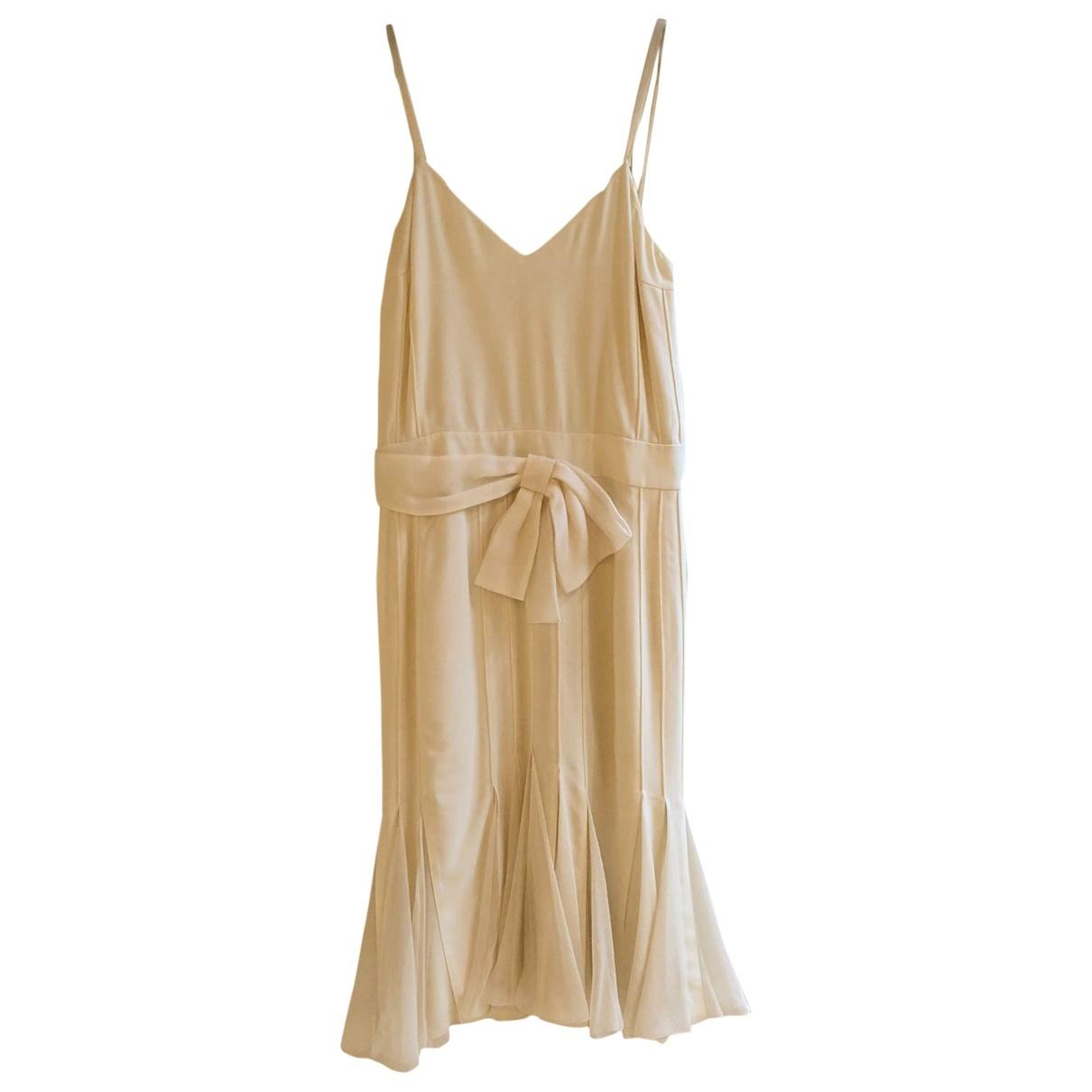 Christian Dior \N Ecru Silk dress for Women 40 FR