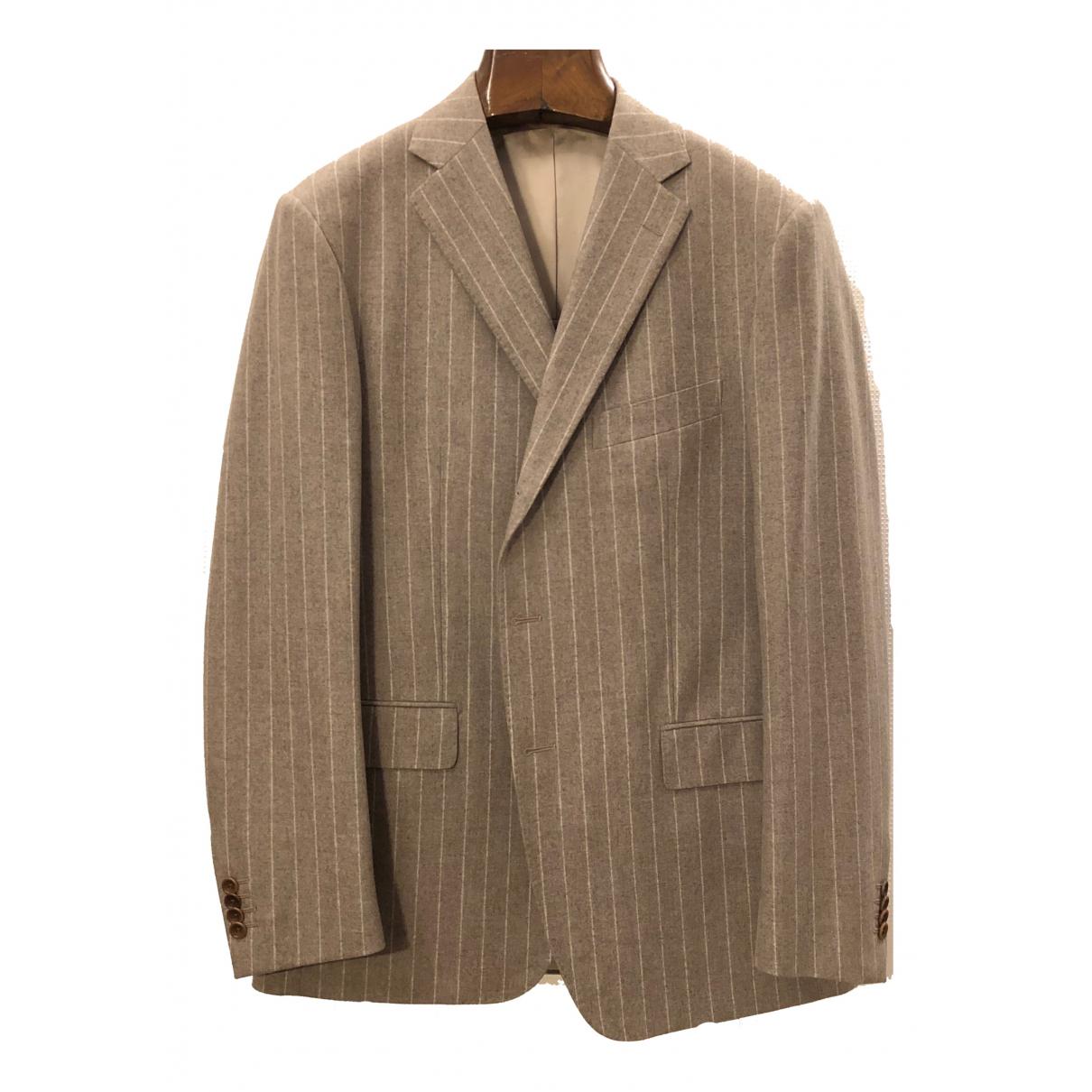 Boggi - Costumes   pour homme en laine - beige