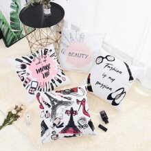 Cosmetic Print Cushion Cover 1pc