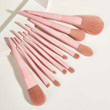 11 piezas set de cepillo de maquillaje unicolor