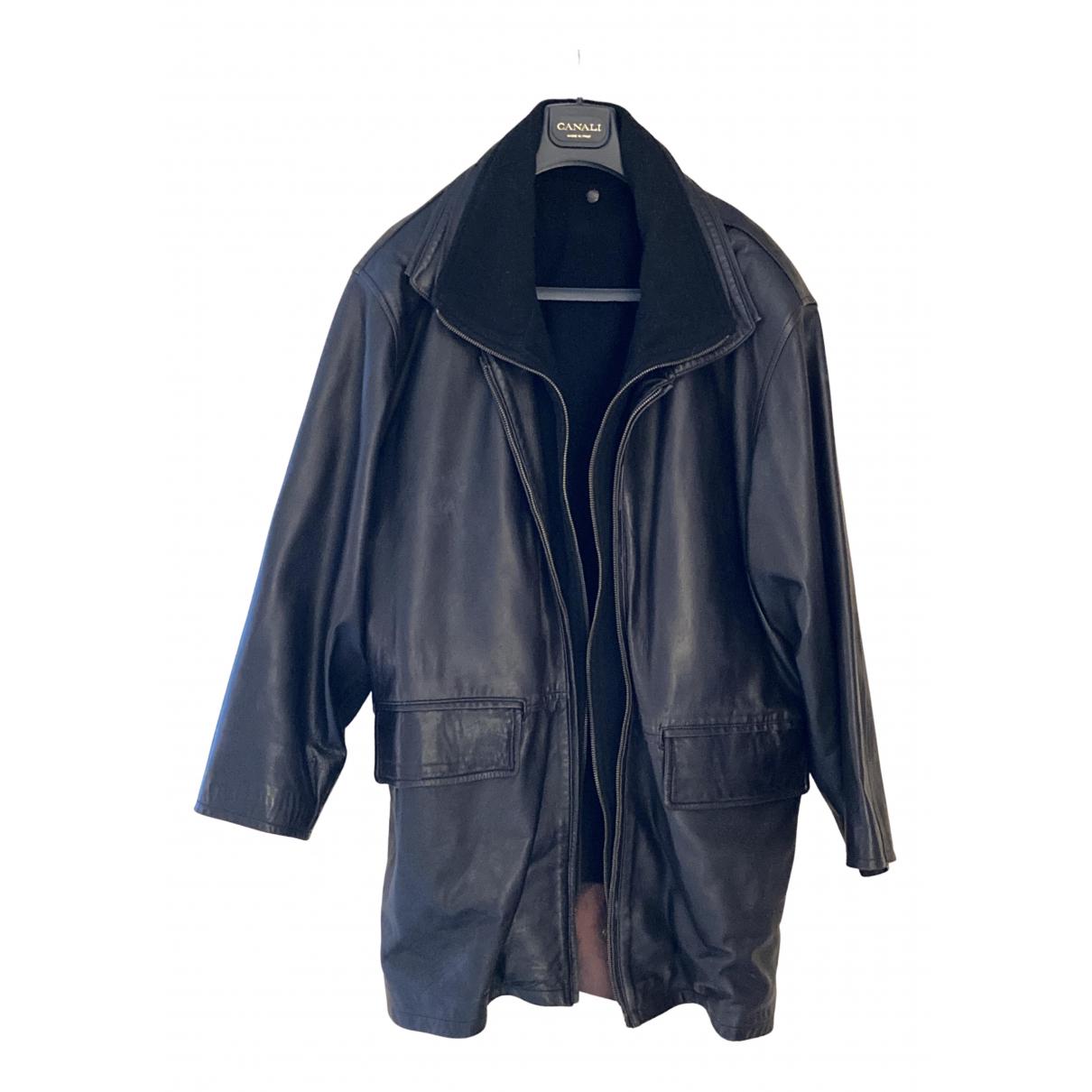 Mac Douglas N Black Leather coat  for Men XL International