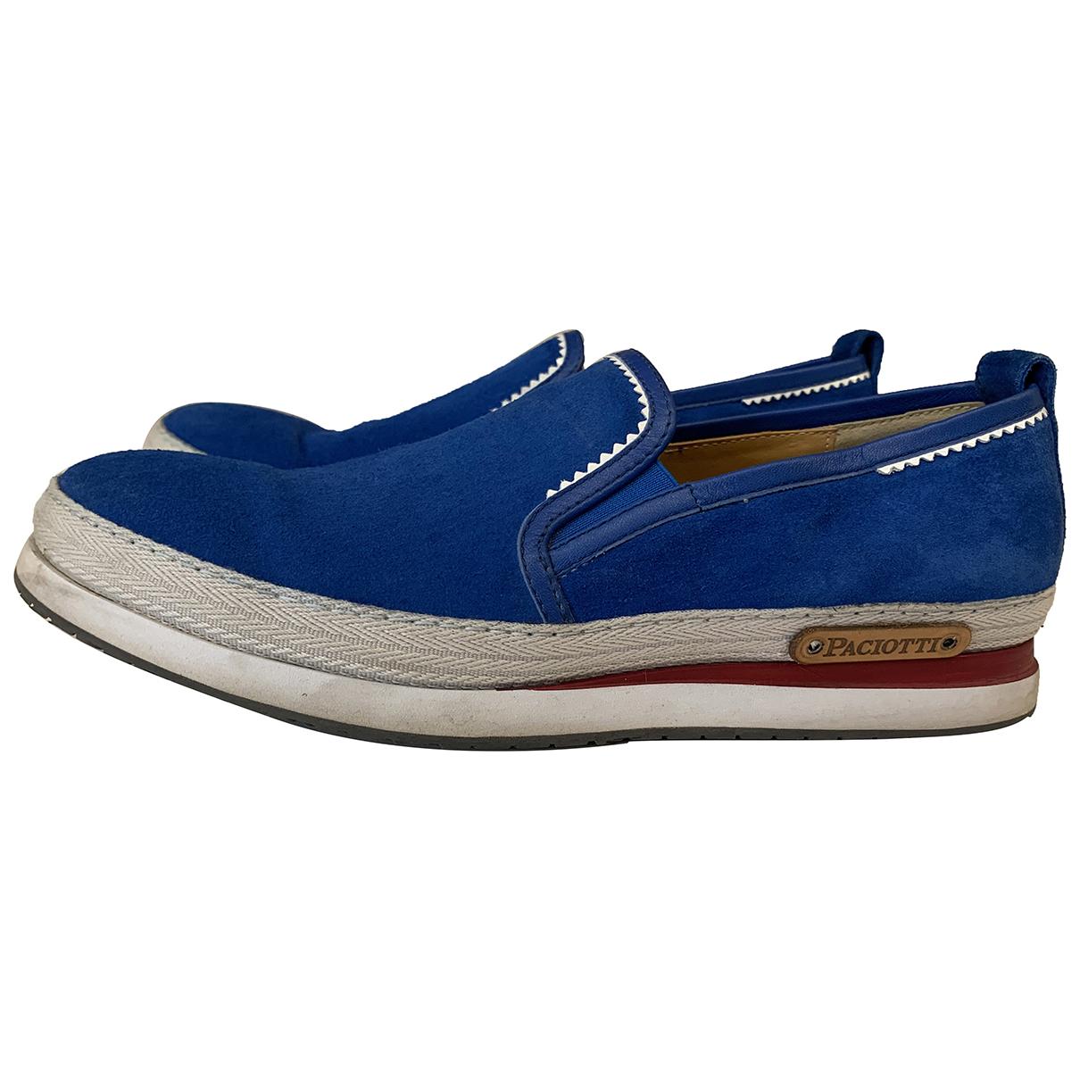 Cesare Paciotti \N Blue Patent leather Espadrilles for Men 40 EU