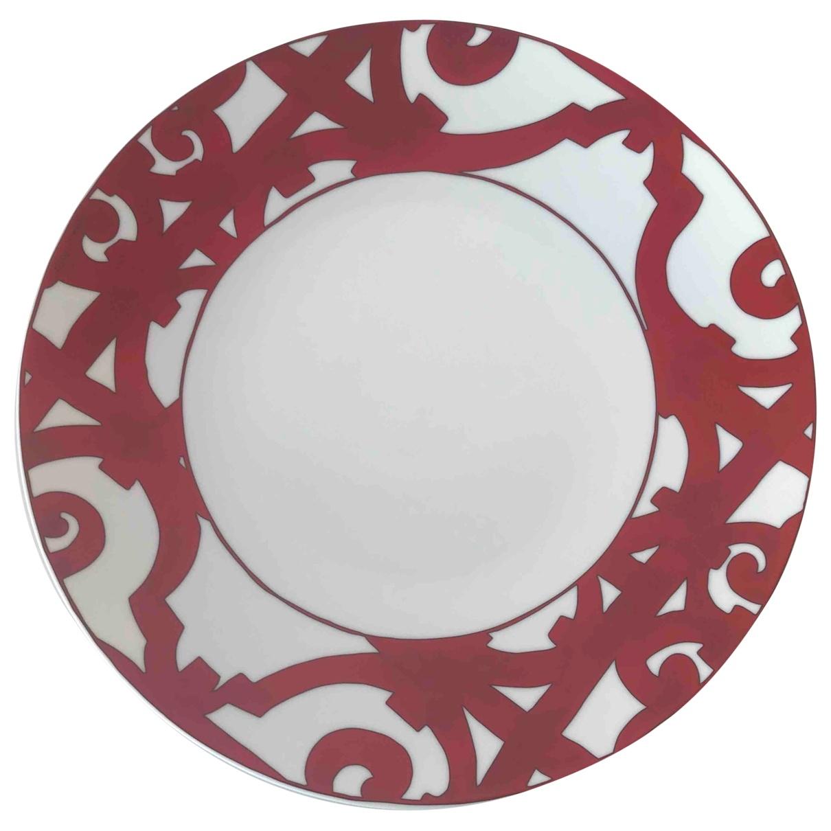 Hermes - Arts de la table Balcon du Guadalquivir pour lifestyle en ceramique - rouge