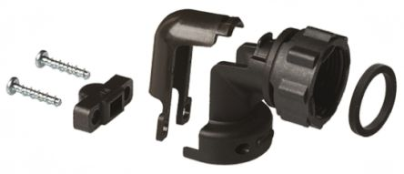 TE Connectivity Cable Clamp Black Screw Thermoplastic Cable Clamp, 8.36mm Max. Bundle