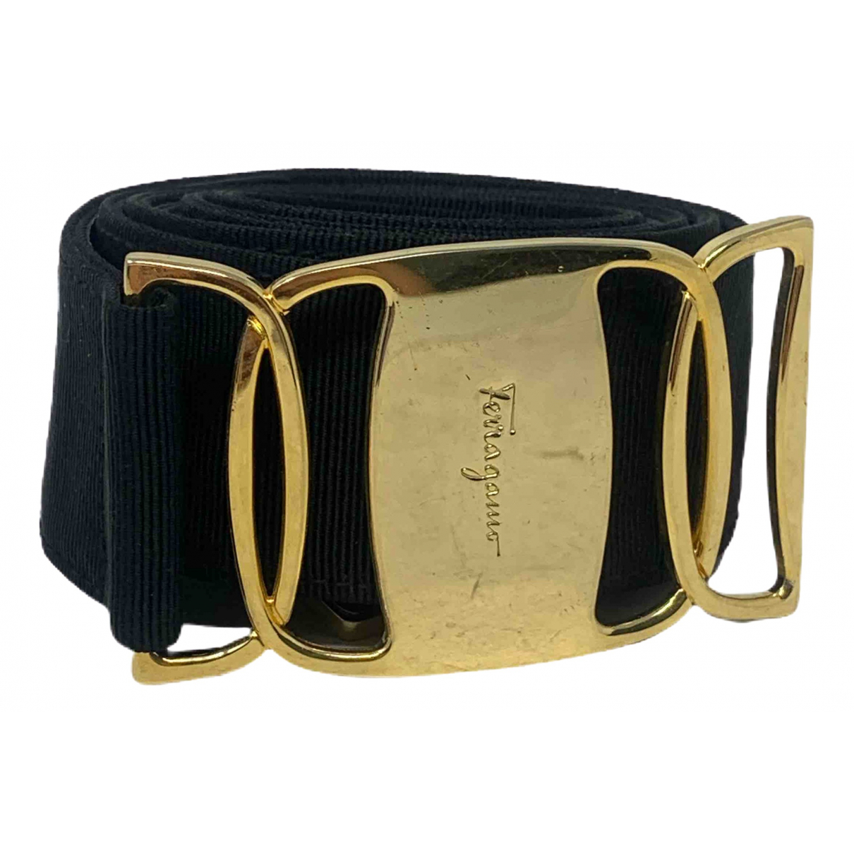 Salvatore Ferragamo \N Black Cloth belt for Women L International