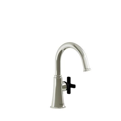 Momenti MMRDS00XPNBK-10 Single Hole Lavatory Faucet with x Cross Handle without Drain 1.0 GPM  in Polished
