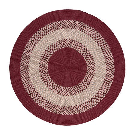 Colonial Mills American Spirit Braided Round Reversible Indoor Rugs, One Size , Red
