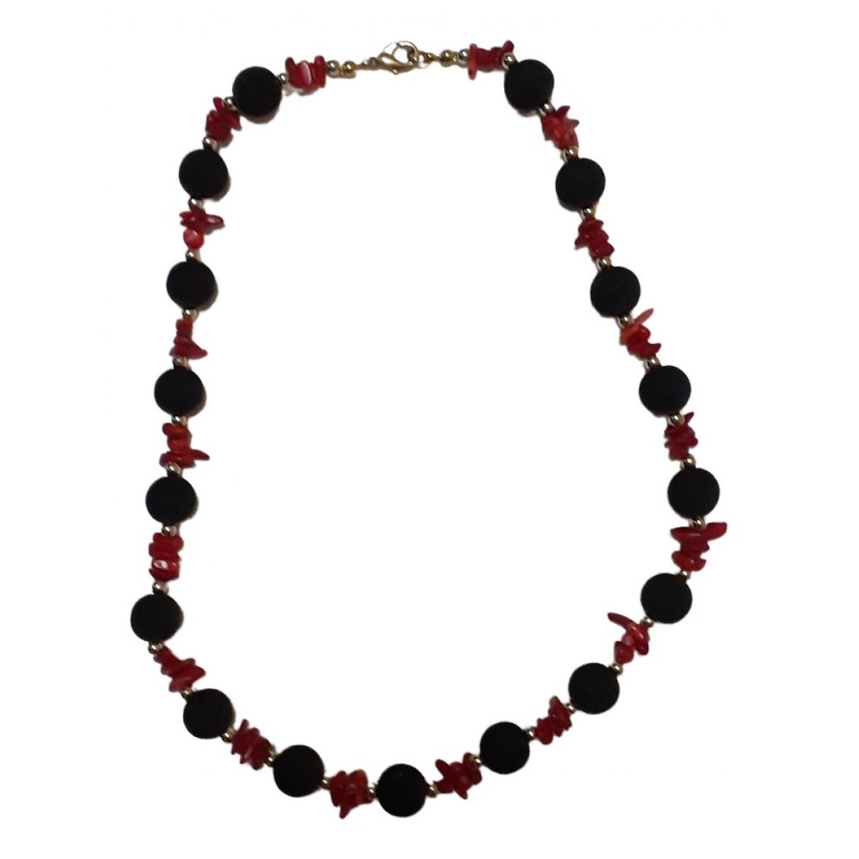 - Collier Corail pour femme en perles - noir