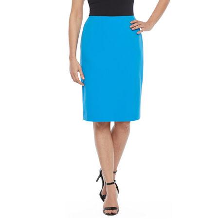 Black Label by Evan-Picone Suit Skirt, 12 , Blue