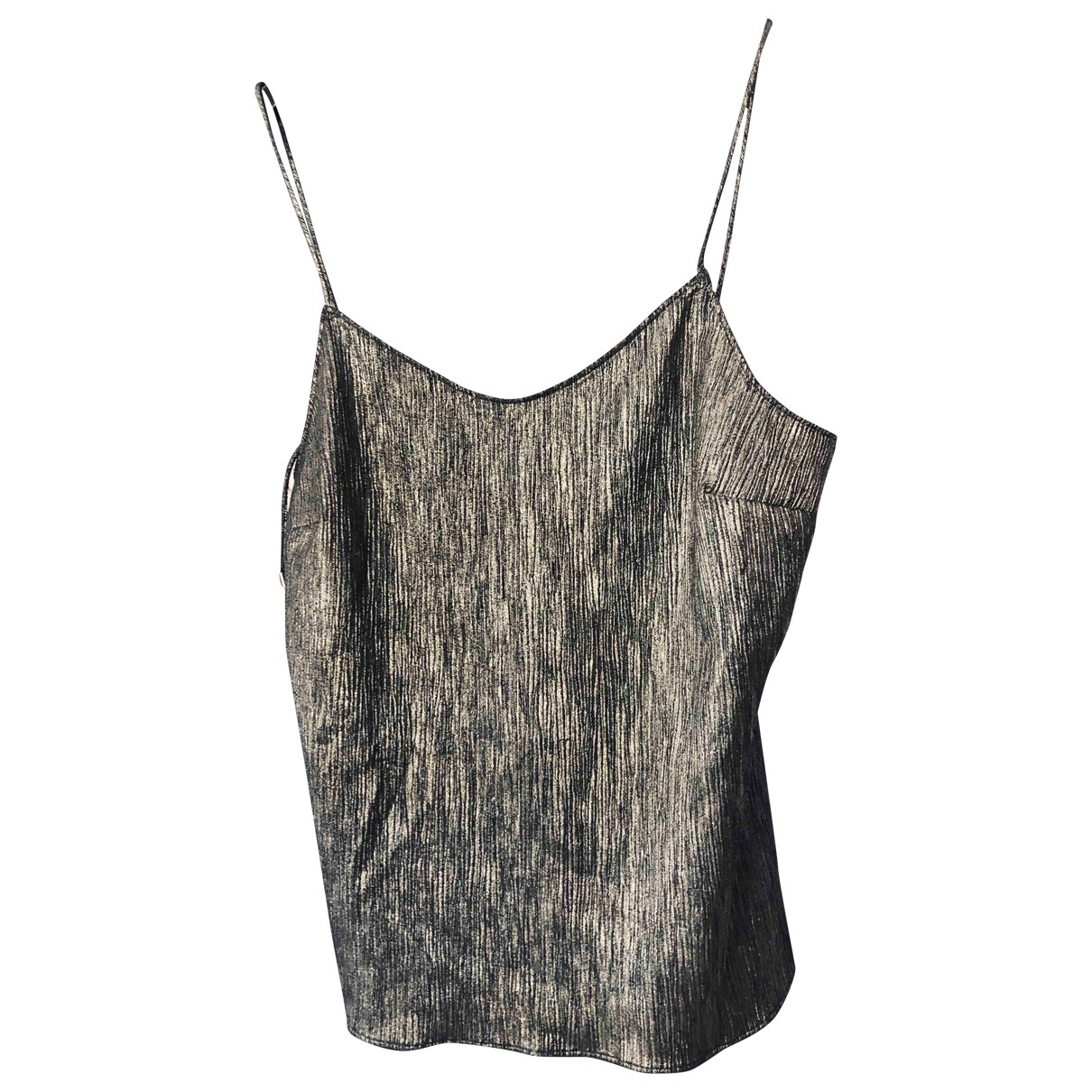 Paige Jeans \N Top in  Metallic Polyester