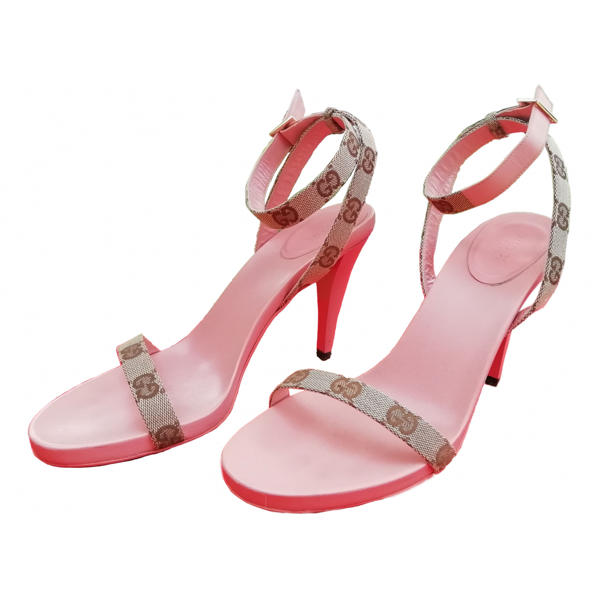 Gucci N Pink Leather Heels for Women 38 IT