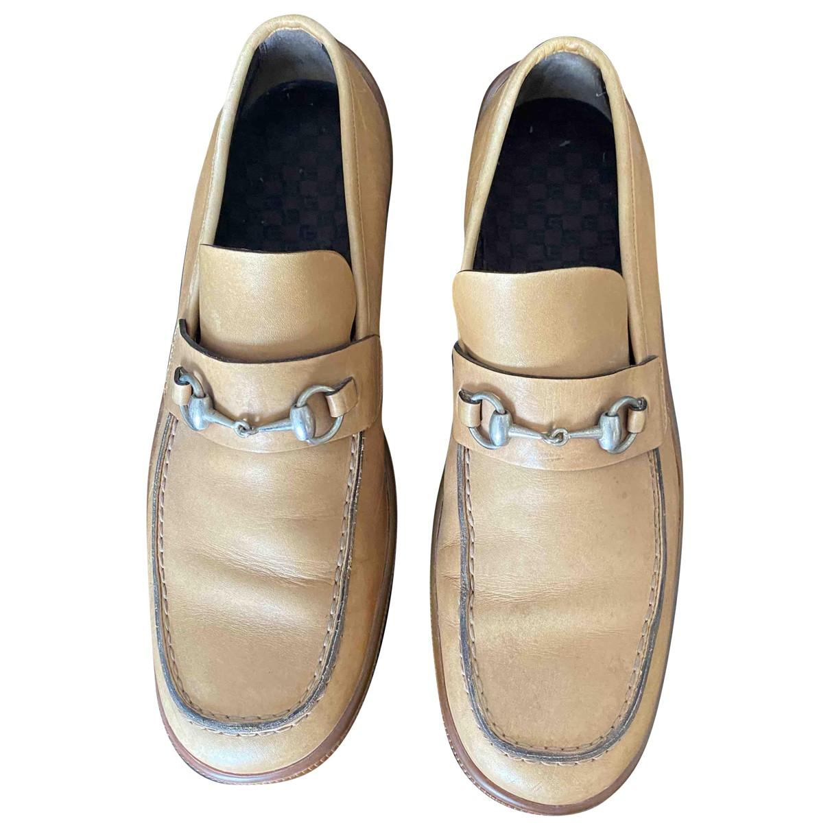 Gucci \N Mokassins in  Beige Leder