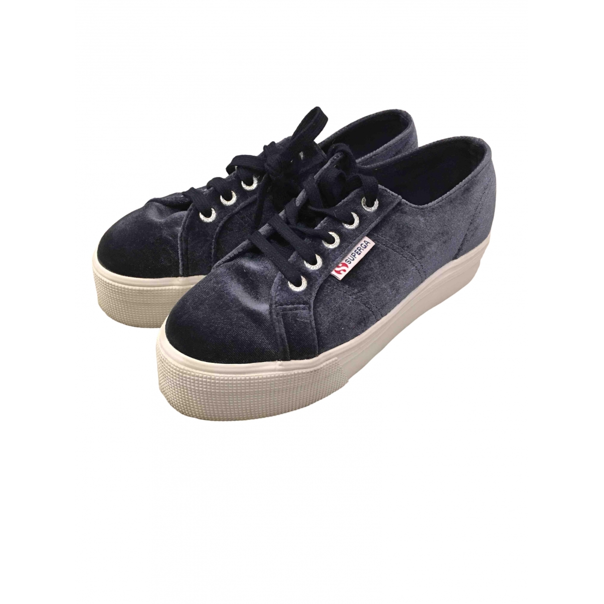 Superga \N Navy Velvet Trainers for Women 36 EU