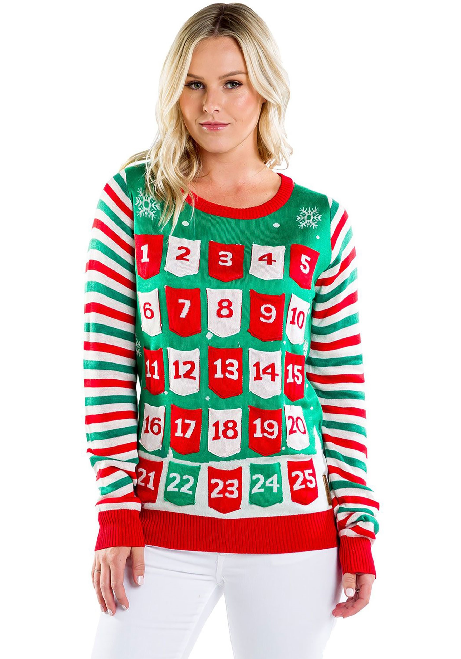 Tipsy Elves Advent Calendar Ugly Christmas Sweater for Women