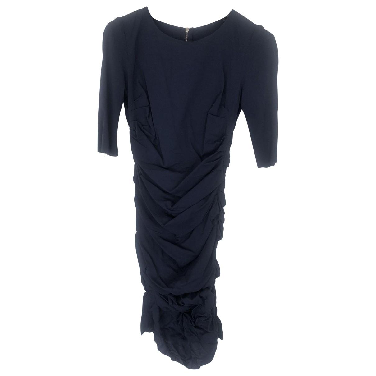 Dolce & Gabbana \N Kleid in  Blau Seide