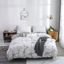 Bettbezug mit Marmor Muster ohne Fuellstoff