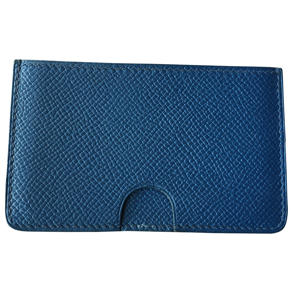 Hermès Calvi Blue Leather Purses, wallet & cases for Women \N