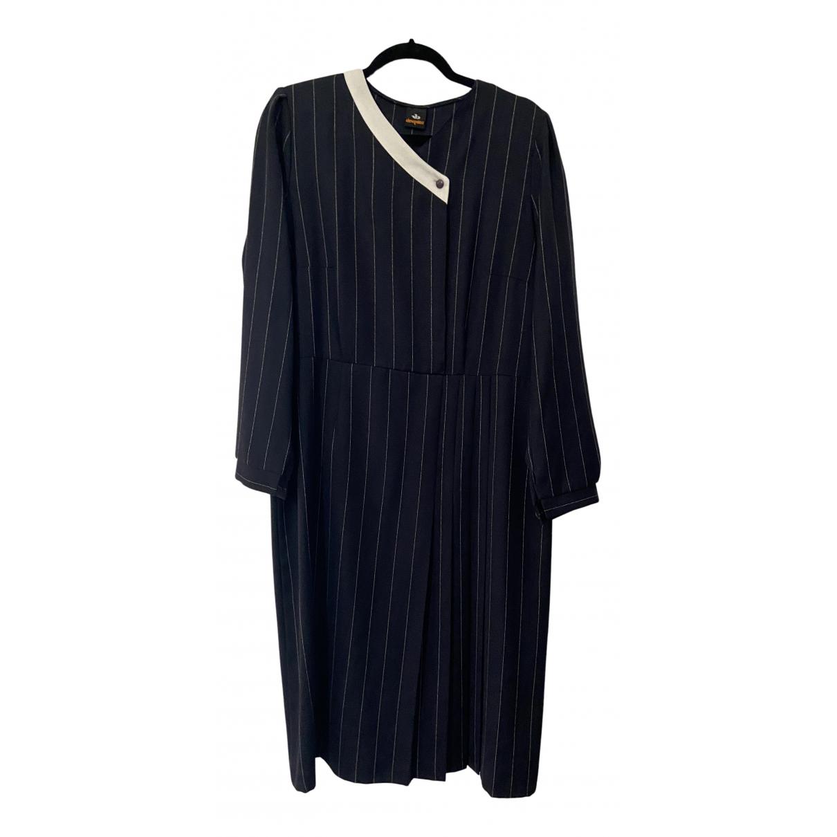 Elena Miro \N Kleid in  Blau Baumwolle