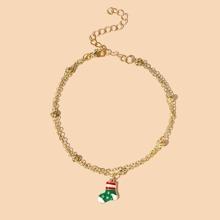 Christmas Sock Chain Bracelet